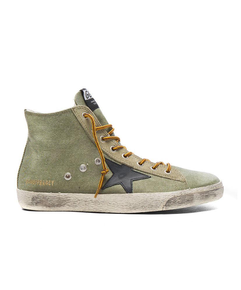 Golden Goose Francy Sneaker - Olive Canvas