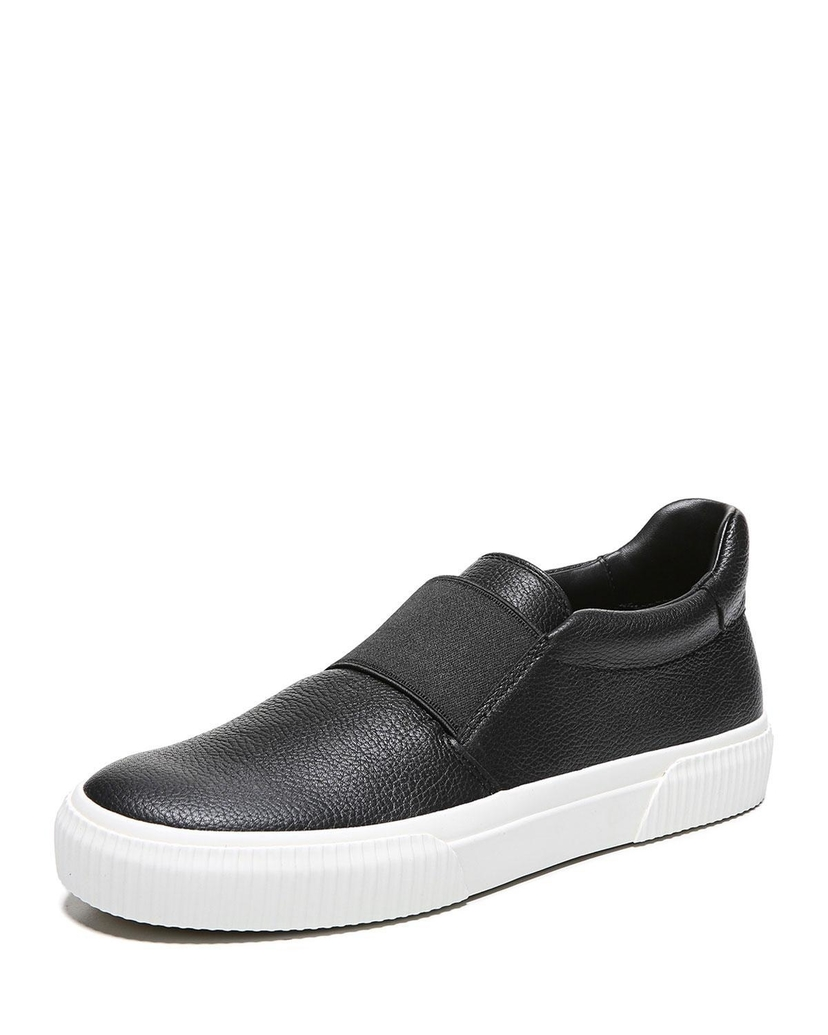 Vince Kirkland Leather Skate Sneaker - Black
