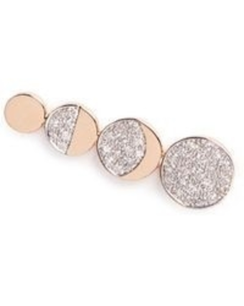 Pamela Love Moon Phase 18kt Rose Gold with Diamond Pave Earring Climber Jewelry