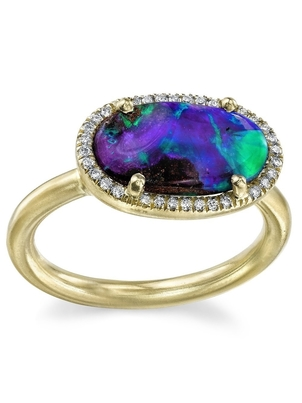 Irene Neuwirth Boulder Opal with Pave Diamond Ring  Jewelry
