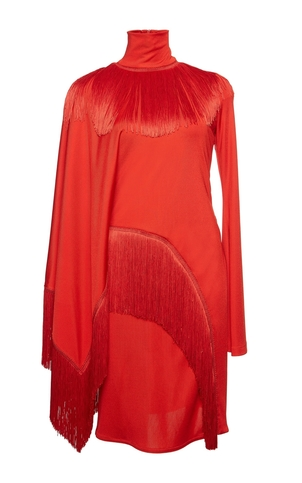 Givenchy Red Fringe Dress Dresses