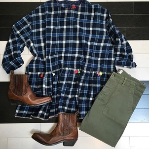 Peplum Top and Boots Shoes Tops
