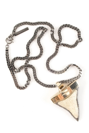 Givenchy Givenchy Silver Shark Tooth Necklace Jewelry