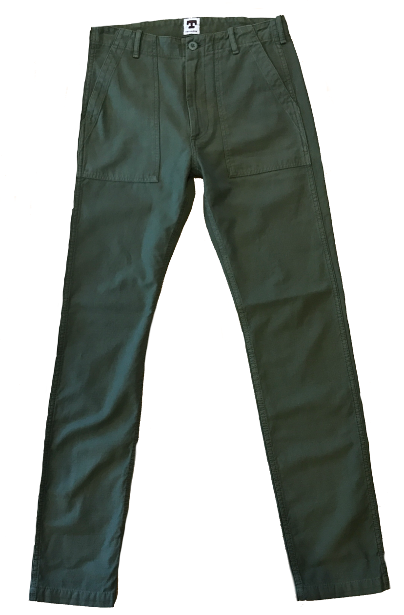 Tellason Fatigue Pant in Olive