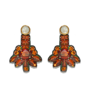 Lizzie Fortunato Amber Blossom Earrings Jewelry