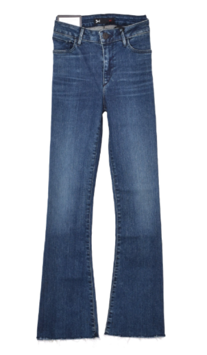 3x1 Midway Extreme Crop Bell Jean in Dot Pants
