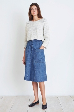 Apiece Apart Apiece Apart Fit Flare Skirt in Denim Skirts