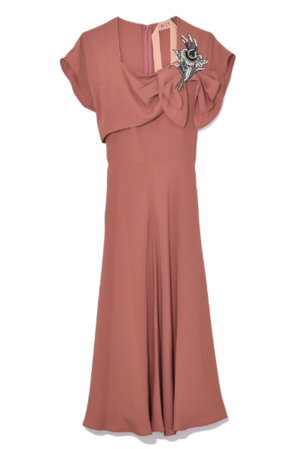 N°21 Silk Dress with Crystals in Blush Dresses