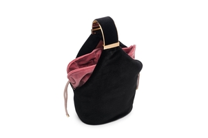 Bienen Davis Kit Bag in Black Velvet and Rose Bag Bags