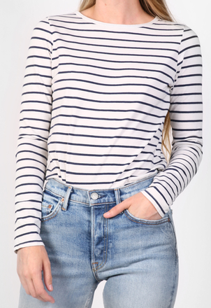 the lady  & the sailor Relaxed L/S – Stripes Tops