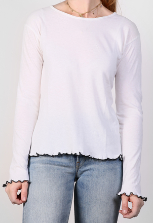 the lady  & the sailor Curly Boxy L/S – Cotton Cashmere Tops