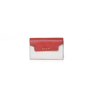 Marni Wallet in Red + Pelican Bags Tops