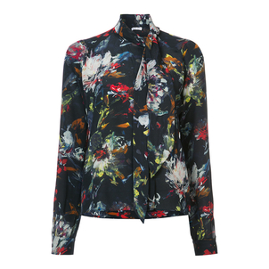 Tomas Maier Cosmic Floral Scarf Neck Top Tops