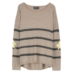 Wyse London Marielle Sweater in Taupe Tops