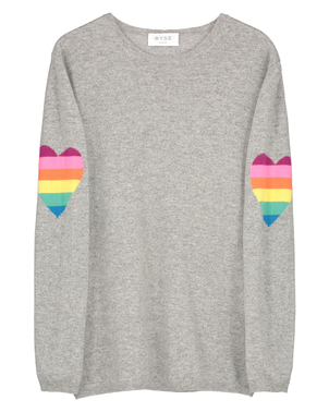 Wyse London Ines Heart Sleeve Sweater Tops