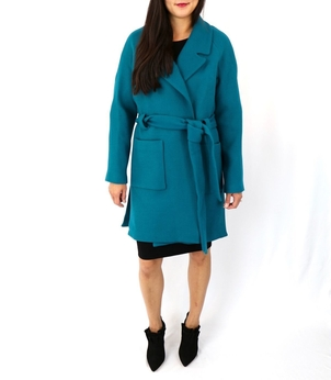 Milly Teal Claire Coat Outerwear