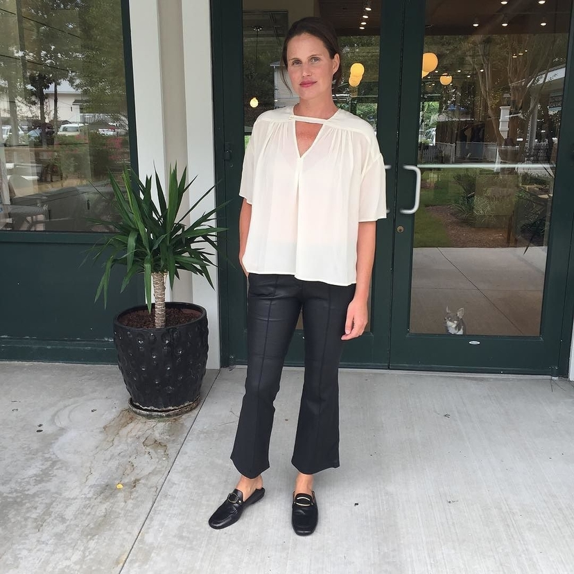A.L.C. Isabel Marant Étoile Wylie Top + Evan Leather Cropped Pant Pants Tops