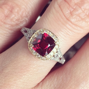 Burmese Red Spinel Ring