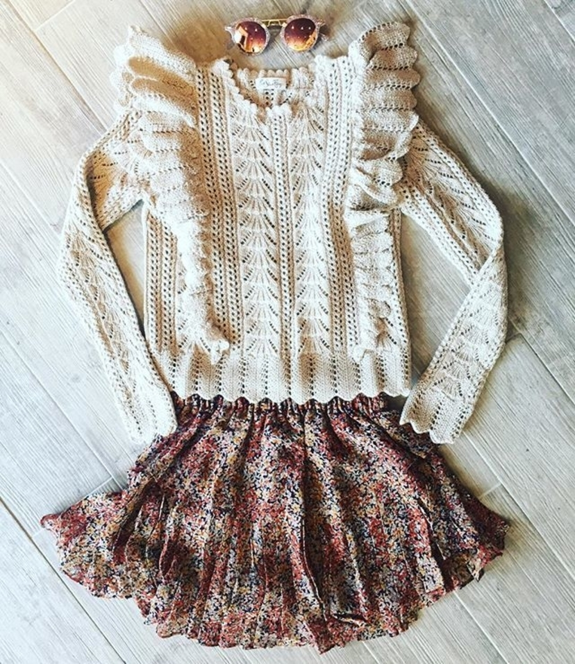 Ruffle Pullover and