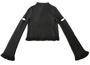 Zoë Jordan Black Sweater with Elbow Cut Out Tops
