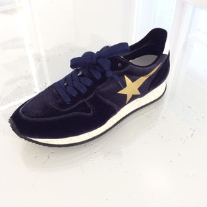 Golden Goose Deluxe Brand Blue Velvet  Sneakers Shoes
