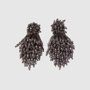 Mignonne Gavigan Burst Earrings Gunmetal Jewelry