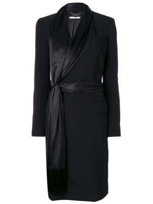 Givenchy Long Sleeve Evening Coat with Scarf Outerwear