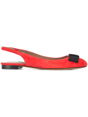 Tabitha Simmons Sling Back Red Flats Shoes
