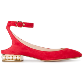 Lola Pearl Ballerinas in Red