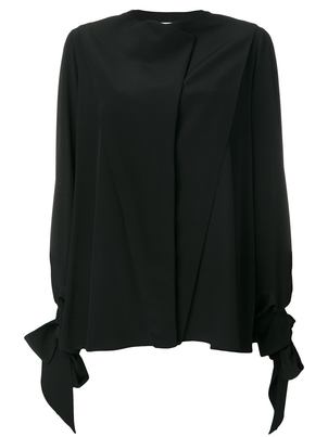 Givenchy Black Tie Sleeve Blouse Tops