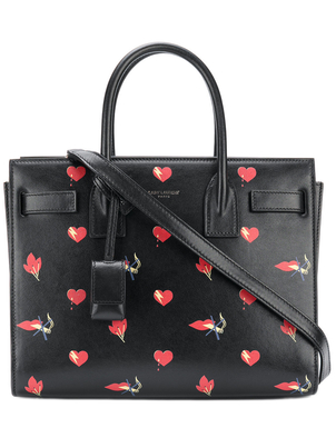 Saint Laurent No Smoking Baby Sac de Jour Tote Bags