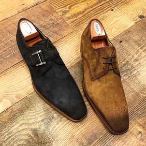 Magnanni Suede Dress Shoes Shoes