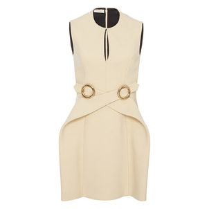 Delpozo Sleeveless Wrap Buckle Dress Dresses