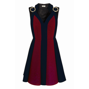 Delpozo Sleeveless Bicolor Buckle Dress Dresses
