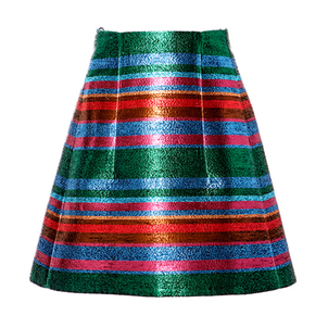 Delpozo Striped Lurex Mini Skirt Skirts