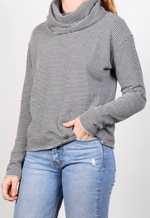 the lady  & the sailor Oversized Turtleneck - Stripes Tops