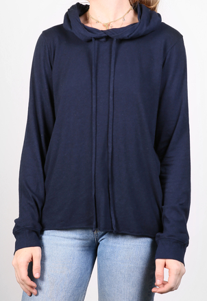 the lady  & the sailor Raw Bottom Hoodie - Cotton Cashmere Tops