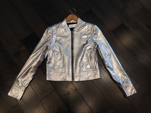 The Mighty Company Loire Silver Leather Jacket Outerwear