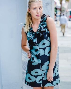 Milly Milly Blue Floral Dress Dresses