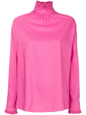 Gucci Long Sleeve High Neck Shirt in Pink Tops