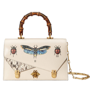 Gucci Ottilia Leather Bag with Bugs Bags