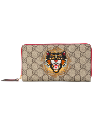 Gucci Angry Cat Large Zip Wallet Bags