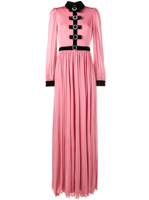 Gucci Long Sleeve Light Jersey Gown Dresses