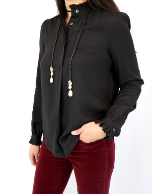 A.P.C. Blouse Evren in Noir Tops