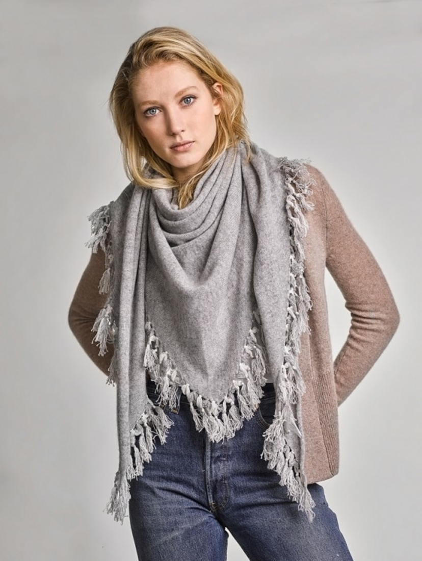 White + Warren Cashmere Tassel Scarf Accessories