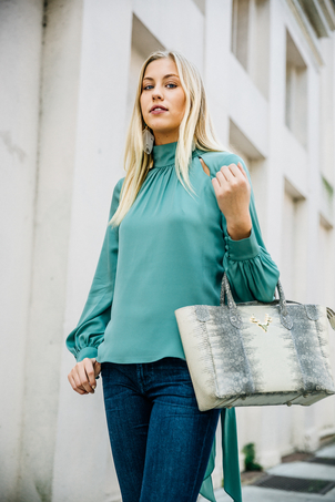 Milly Milly Tie Back Blouse Tops
