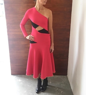 Proenza Schouler Proenza Schouler Knit Dress in Bandage Fuchsia Dresses