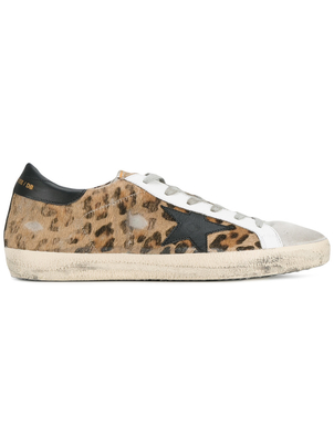 Golden Goose Deluxe Brand Superstar Sneaker in Leopard w/ White Shoes