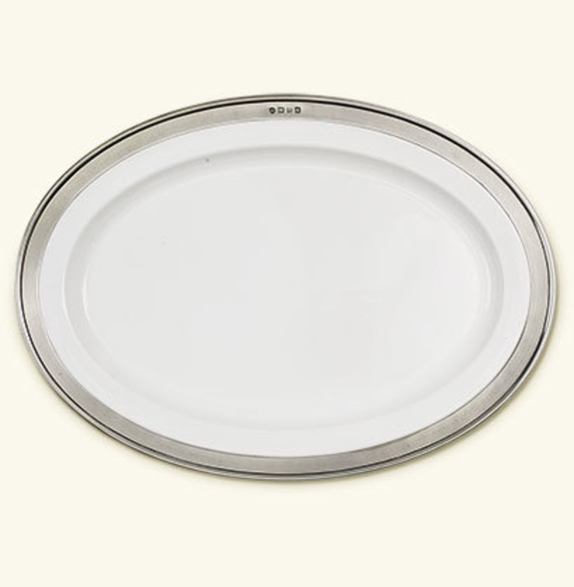 MATCH Pewter Convivio Oval Large Serving Platter Gifts