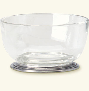 MATCH Pewter Round Crystal Bowl Gifts